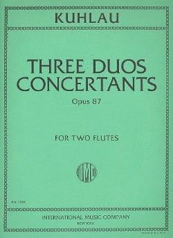 3 Duos concertants op. 87 - 2 Flutes Friedrich Kuhlau laflutedepan