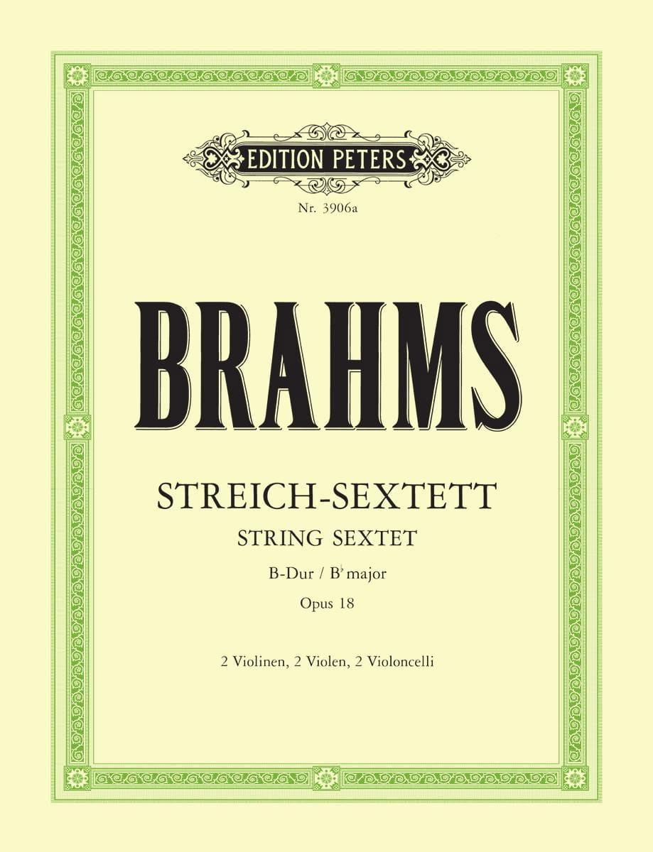 Streich-Sextett B-Dur op. 18 -Stimmen - BRAHMS - laflutedepan.com