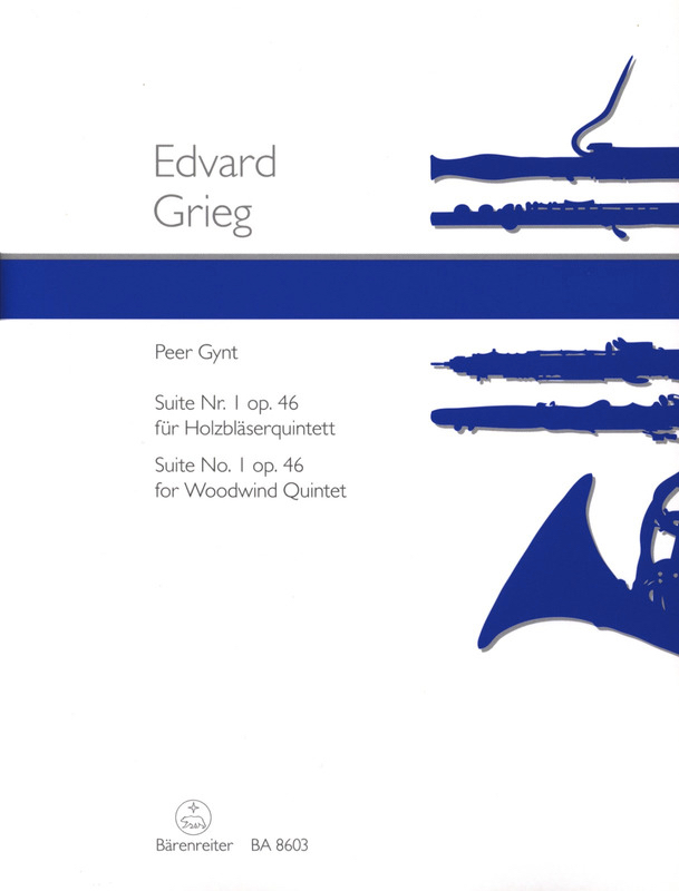 Peer Gynt Suite n° 1 op. 46 - Holzbläserquintett - Partitur + Stimmen - laflutedepan.com