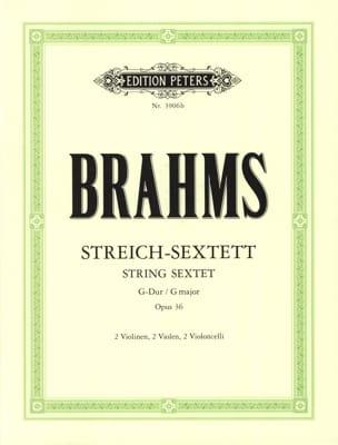 Streich-Sextett G-Dur op. 36 -Stimmen BRAHMS Partition laflutedepan