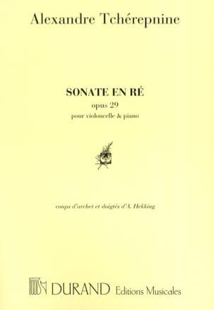 Sonate En Ré N° 1 Op. 29 Alexandre Tcherepnine Partition laflutedepan