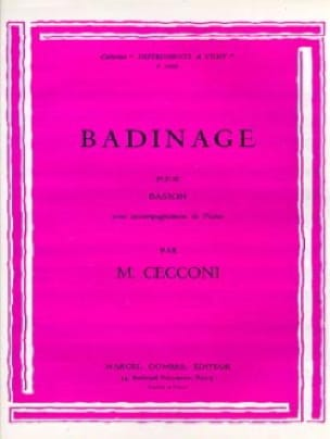 Badinage - Monic Cecconi - Partition - Basson - laflutedepan.com