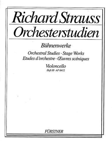 Orchesterstudien - Heft 3 Cello - Richard Strauss - laflutedepan.com