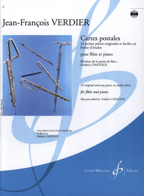Cartes postales - Jean-François Verdier - Partition - laflutedepan.com