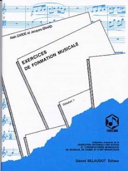 Exercices de FM - Débutant 1 Alain Zardé Partition laflutedepan