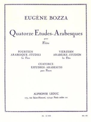 14 Etudes-Arabesques Eugène Bozza Partition laflutedepan