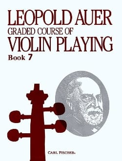 Leopold Auer - Graded Course 7 Violin Playing, Volume 7 - Partition - di-arezzo.fr