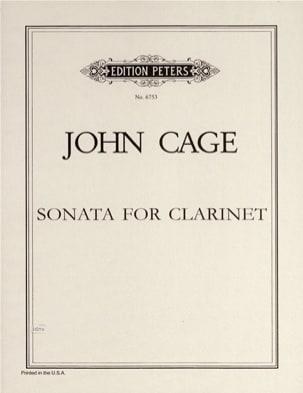Sonata for Clarinet CAGE Partition Clarinette - laflutedepan