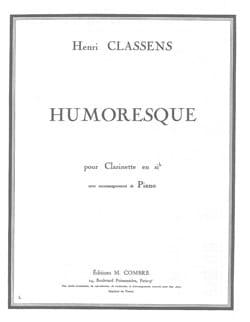 Humoresque CLASSENS Partition Clarinette - laflutedepan