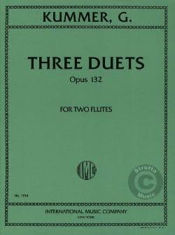 3 Duets op. 132 - 2 Flutes Gaspard Kummer Partition laflutedepan