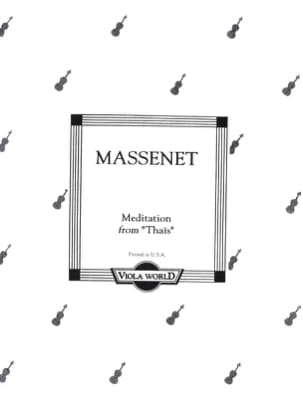 Méditation de Thais - Alto MASSENET Partition Alto - laflutedepan