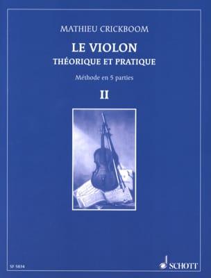 Le violon, Volume 2 - Mathieu Crickboom - Partition - laflutedepan.com
