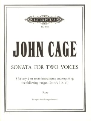 Sonata for Two Voices CAGE Partition Grand format - laflutedepan