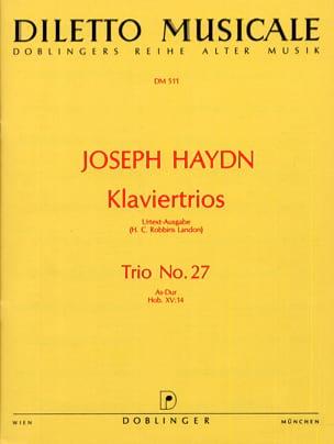 Klaviertrio Nr. 27 As-Dur Hob. 15 : 14 -Stimmen - laflutedepan.com