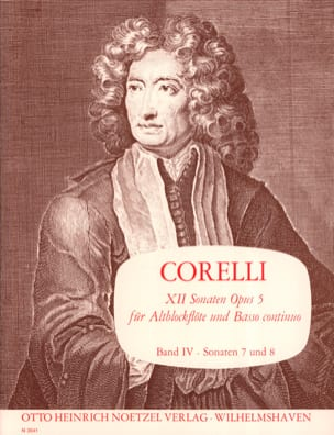 CORELLI - 12 Sonaten op. 5 - Bd. 4 - Altblockflöte u. Bc - Partition - di-arezzo.com