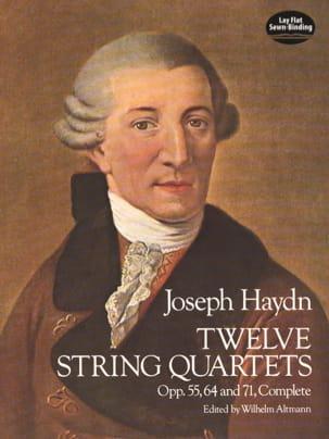 12 String Quartets, Op. 55, 64, 71 HAYDN Partition laflutedepan