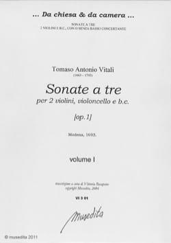 Sonate a tre [op. 1] Volume 1-2 Tommaso Antonio Vitali laflutedepan