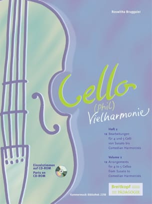 Cello Phil Vielharmonie Volume 2 Roswitha Bruggaier laflutedepan