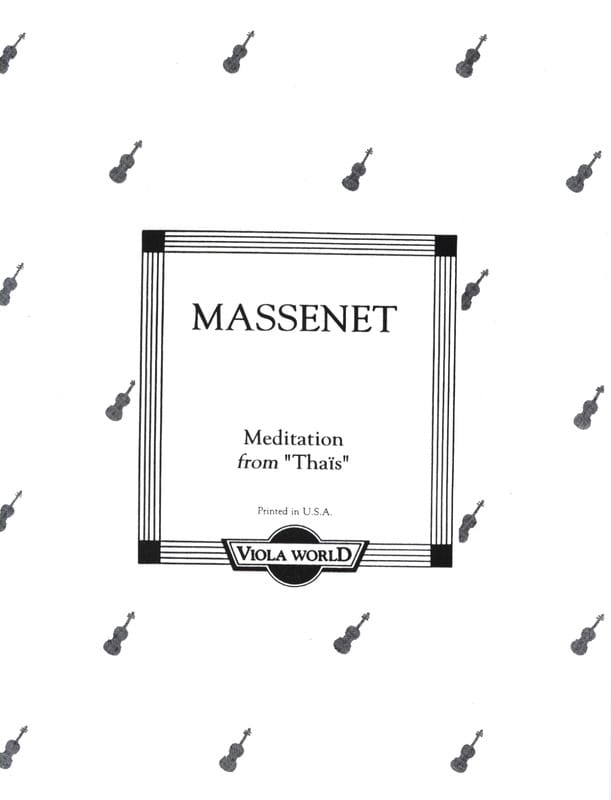 Méditation de Thais - Alto - MASSENET - Partition - laflutedepan.com