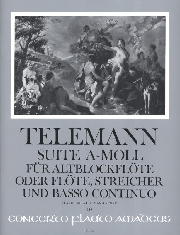 Suite a-moll - Altblockflöte - TELEMANN - Partition - laflutedepan.com
