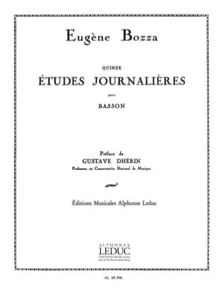 15 Etudes journalières op. 64 Eugène Bozza Partition laflutedepan