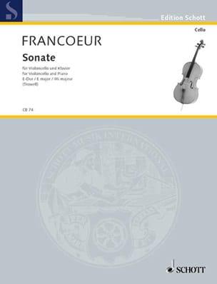 Sonate E-Dur François Francoeur Partition Violoncelle - laflutedepan