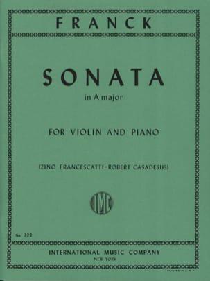 Sonata in A major - Violin FRANCK Partition Violon - laflutedepan
