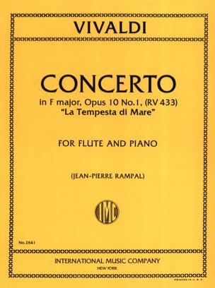 Concerto en Fa Maj. - F. 6 n° 12 La Tempesta Di Mare - Flute/Piano laflutedepan