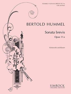 Sonata Brevis HUMMEL Partition Violoncelle - laflutedepan