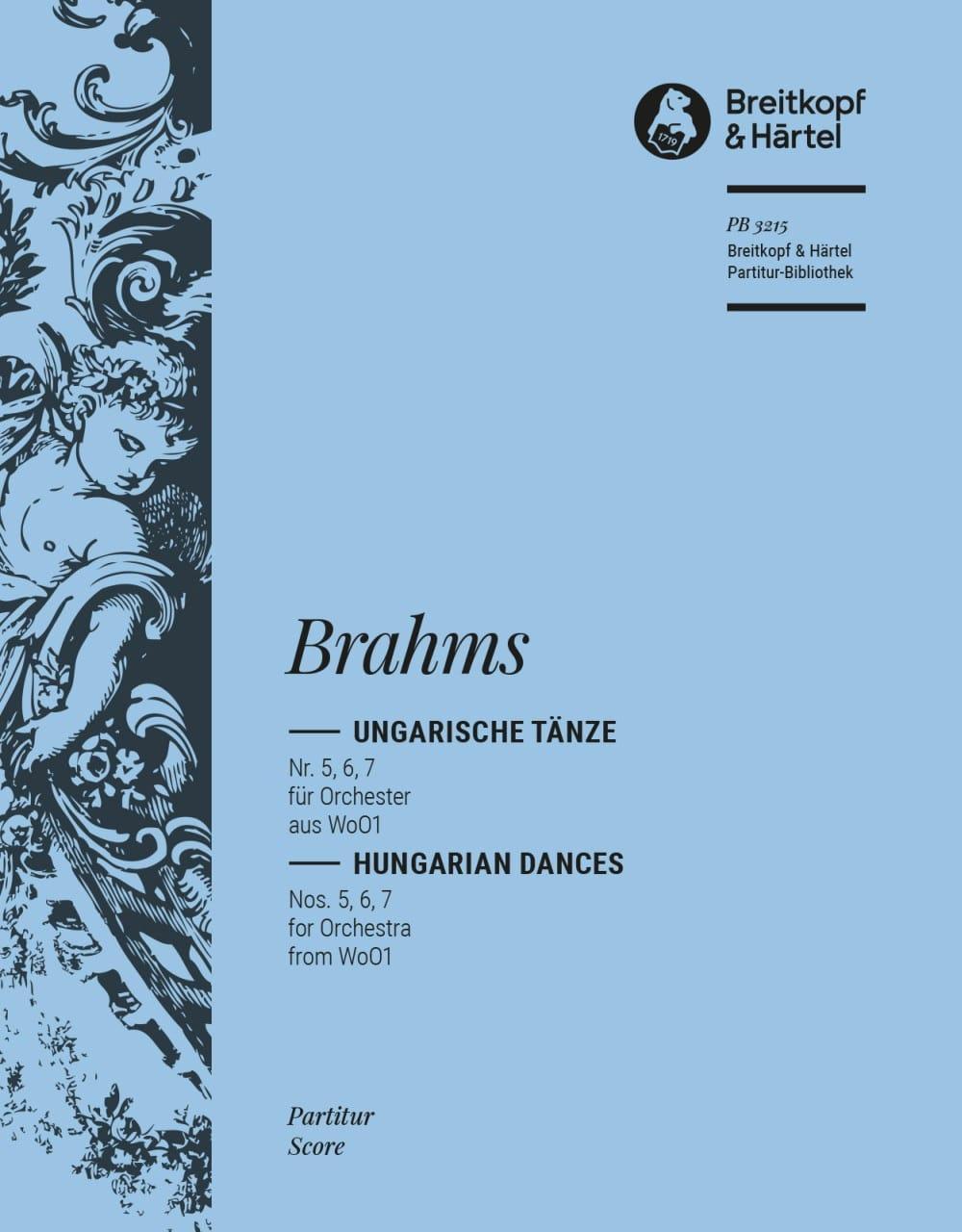 Ungarische Tänze, Nr. 5, 6, 7 - Orchester - BRAHMS - laflutedepan.com