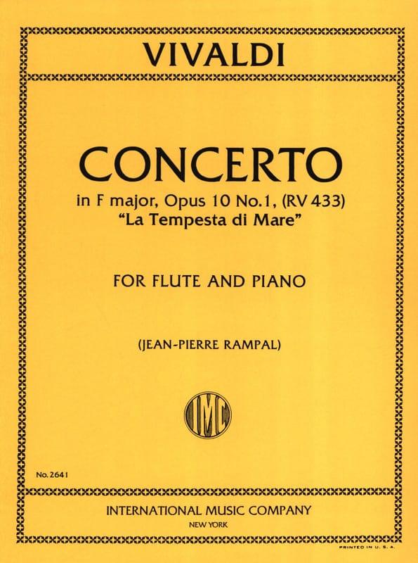 Concerto en Fa Maj. - F. 6 n° 12 La Tempesta Di Mare - Flute/Piano - laflutedepan.com