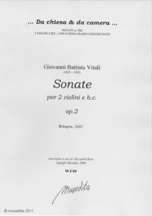 Sonates op. 2 - Tommaso Antonio Vitali - Partition - laflutedepan.com