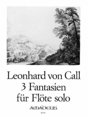 3 Fantasien für Flöte solo - Leonhard von Call - laflutedepan.com