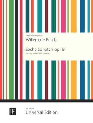 6 Sonaten op. 9 -2 Flöten o. Violinen Willem de Fesch laflutedepan