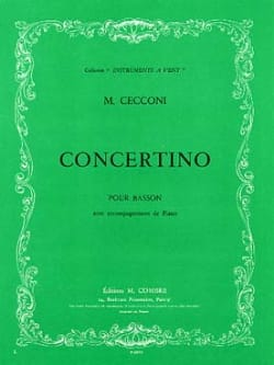 Concertino pour basson Monic Cecconi Partition Basson - laflutedepan