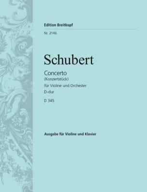 SCHUBERT - Concerto Konzertstück in D major - D 345 - Partition - di-arezzo.co.uk
