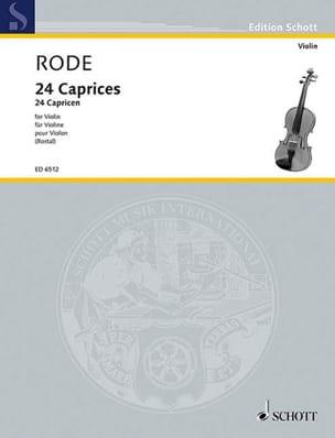 24 Caprices Rostal Pierre Rode Partition Violon - laflutedepan
