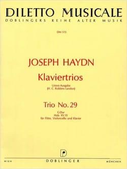 Klaviertrio Nr. 29 G-Dur Hob. 15 : 15 -Flöte Violoncello Klavier laflutedepan
