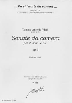 Sonate da camera op. 3 - Tommaso Antonio Vitali - laflutedepan.com