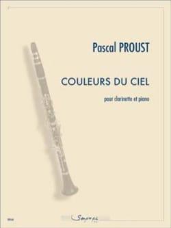 Couleurs du ciel Pascal Proust Partition Clarinette - laflutedepan