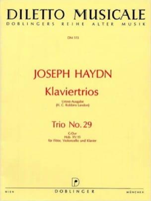 Klaviertrio Nr. 29 G-Dur Hob. 15 : 15 -Flöte Violoncello Klavier - laflutedepan.com