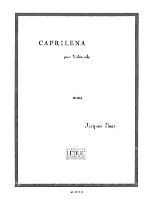 Caprilena IBERT Partition Violon - laflutedepan