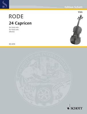 24 Capricen - Viola Rostal Pierre Rode Partition Alto - laflutedepan