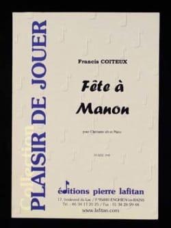 Fête à Manon Francis Coiteux Partition Clarinette - laflutedepan