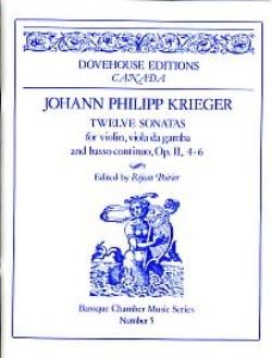 12 Sonates op. 2 n° 4-6 Johann Philipp Krieger Partition laflutedepan
