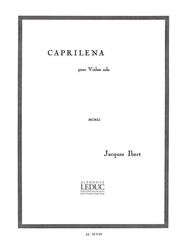 Caprilena - IBERT - Partition - Violon - laflutedepan.com
