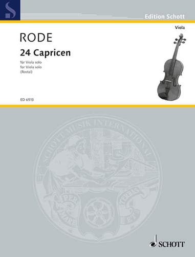 24 Capricen - Viola Rostal - Pierre Rode - laflutedepan.com