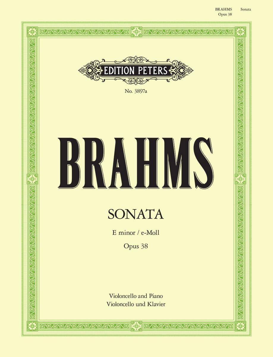 Sonate en mi mineur op. 38 - BRAHMS - Partition - laflutedepan.com