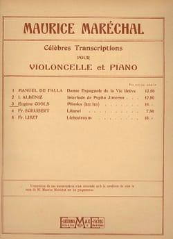 Pliaska Eugène Cools Partition Violoncelle - laflutedepan
