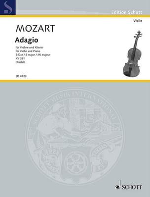Adagio E-Dur KV 261 MOZART Partition Violon - laflutedepan